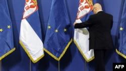 Zastave Srbije i Evropske unije