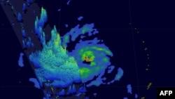 Grafički snimak oluje, Japan, fotoarhiv
