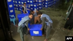 Afghans went to the polls to vote in the presidential election on September 28.