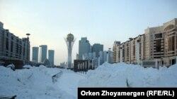 Үйілген қар, Астана (Көрнекі сурет)
