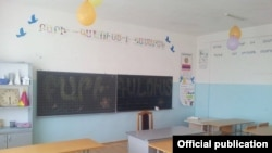An empty classroom at one of schools in Armenia (file photo)