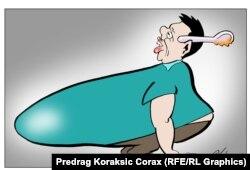 Karikatura Predraga Koraksića