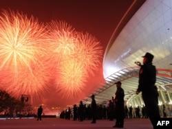 Focuri de artificii la Shanghai