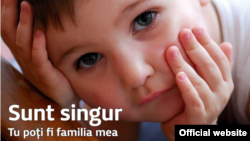 "Poster al Organizației ""Copil, comunitate, familie"""