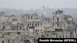 Разрушенные здания в Алеппо. 29 ноября 2016 года.