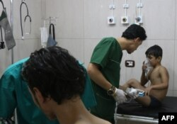 В полевом госпитале в сирийском городе Алеппо. 6 сентября 2016 года.