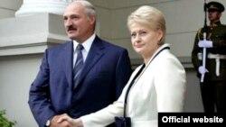 Аляксандар Лукашэнка і Дяля Грыбаўскайце, 2009 год