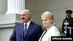 Аляксандар Лукашэнка і Дяля Грыбаўскайце
