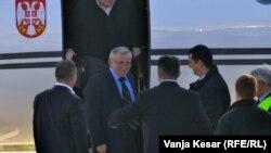 Doček Vladimira Lazarevića na aerodromu u Nišu