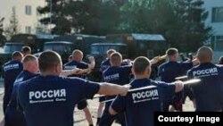 Нирӯҳои пойгоҳи 201-уми Русия ҳангоми тамрин