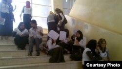 طلبة في جامعة عراقية