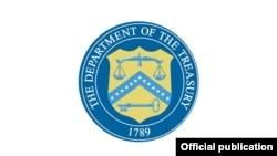 Печать министерства финансов США.