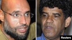 Старший сын Муаммара Каддафи Сейф аль-Ислам и бывший шеф ливийской разведки Абдалла Сенусси. Разыскиваются Международным уголовным судом