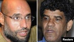 Саиф аль-Ислам Каддафи (слева) и Абдалла Сенусси