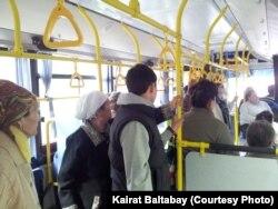Алматы автобустарының бірі. (Көрнекі сурет)