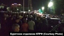 Стихийный митинг в центре Улан-Удэ, 9 сентября 2019 года