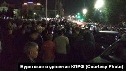 Стихийный протест в центре Улан-Удэ, 9 сентября 2019 года