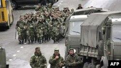 vojska patrolira u Tbilisiju, glavnom gradu Gruzije