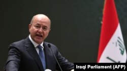 Iraqi President Kurdish Barham Saleh. FILE PHOTO