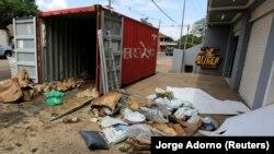 Kontejner iz Srbije u kojem su pronađena tela u luci u Paragvaju, 23. oktobar