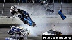 Гонки NASCAR в Дайтона-Бич, Флорида, 17 февраля 2020. Фото: Peter Casey-USA TODAY Sports