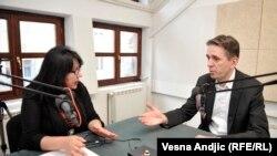 Saša Radulović u razgovoru sa novinarkom RSE Brankom Trivić
