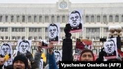 Кыргызстанда коррупцияга каршы жүрүшкө чыккандар, 25-нобярь, 2019-жыл.