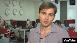 Украиналық «1+1» телеарнасының журналисі Евгений Агарков.