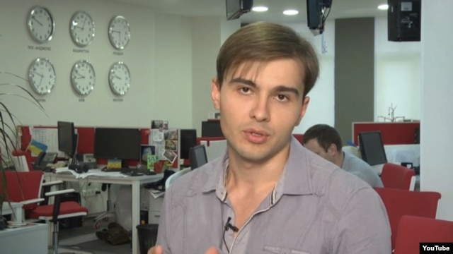 Ukrainian TV journalist Yevhen Aharkov