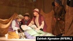 Бакен Кыдыкеева атындагы жаш көрүүчүлөр театрынын спектакли.