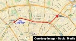 Карта Марша Немцова