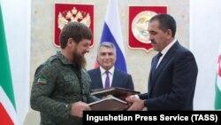 Главы Чечни и Ингушетии Рамзан Кадыров и Юнус-Бек Евкуров