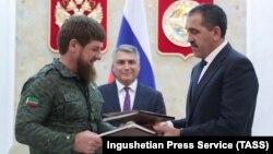 Рамзан Кадыров и Юнус-Бек Евкуров подписали соглашение 26 сентября 2018 г.