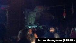 На байк-шоу доставили исторический танк Т-34