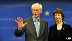 Herman Van Rompuy (left) and Catherine Ashton, pallbearers for a united EU foreign policy?