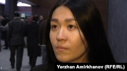 Іңкәр Айтқожина, Назарбаев университетінің студенті. Астана, 2 қараша 2015 жыл