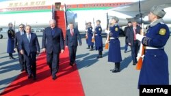 Belarus Prezidenti Aleksandr Lukaşenko Azərbaycana rəsmi səfərə gəlib. 28noy2016