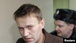 Российский блогер, гражданский активист Алексей Навальный. Москва, 6 декабря 2011 года.