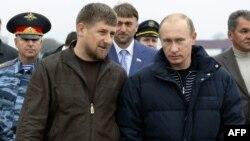 Рамзан Кадыров и Владимир Путин, Грозный, 16 октября 2008