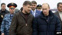 Президент России Владимир Путин и глава Чечни Рамзан Кадыров