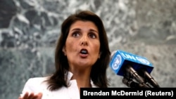 U.S. Ambassador to the United Nations Nikki Haley. File photo