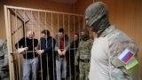Украинские моряки в суде, архивное фото