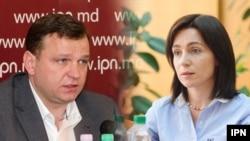 Maia Sandu (dreapta) și Andrei Năstase