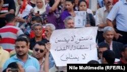 من شعارات مظاهرة 19 تشرين في القاهرة