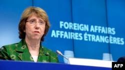 Բելգիա - Եվրամիության արտաքին քաղաքականության պատասխանատու Քեթրին Էշթոնը ասուլիս է տալիս նախարարների հանդիպումից հետո, Բրյուսել, 22-ը հուլիսի, 2014թ․