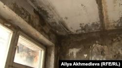 Сырость на потолке и стенах квартиры в микрорайоне 9-я Площадка. Талдыкорган, ноябрь 2015 года.