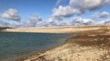 Уровень воды в Белогорском водохранилище. Октябрь 2018 года