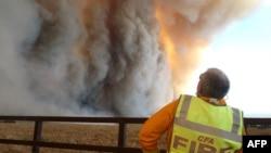 Пожар в Национальном Парке Буньип, 125 километров от Мельбурна