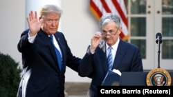 Donald Tramp i šef Feda Džerom Pauel