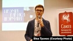 Сяргей Макарэвіч, кіраўнік фонду «Вяртаньне». Фота Вікі Трэнас